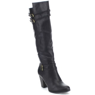 Spirit Moda Fiona-3 Women's Over the Knee Stackled Heel Dress Boots