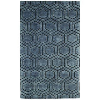 Onix Over Tufted Wool Blend Rug (5' x 8')