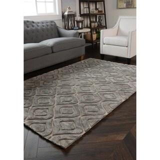 Zani Over Tufted Wool Blend Rug (5' x 8')