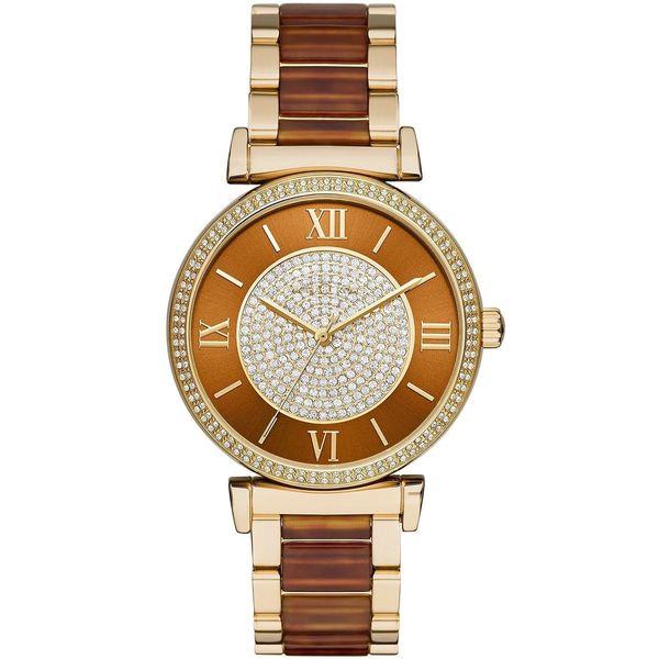 Michael Kors Women's MK3411 'Catlin' Crystal Two-Tone Stainless Steel Watch