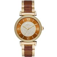 Michael Kors Women's MK3411 'Catlin' Crystal Two-Tone Stainless Steel Watch