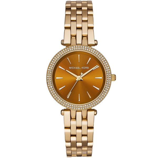fc9f5c9afa67 Shop Michael Kors Women s MK3408  Mini Darci  Crystal Gold-Tone Stainless  Steel Watch - Free Shipping Today - Overstock - 10577621
