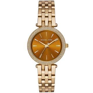 Michael Kors Women's MK3408 'Mini Darci' Crystal Gold-Tone Stainless Steel Watch|https://ak1.ostkcdn.com/images/products/10577621/P17653637.jpg?impolicy=medium