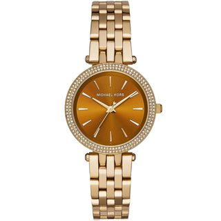 Michael Kors Women's MK3408 'Mini Darci' Crystal Gold-Tone Stainless Steel Watch