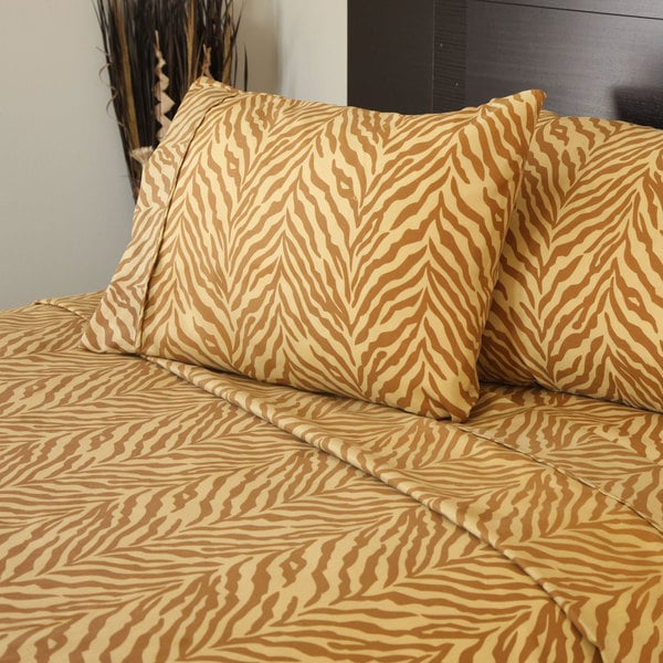 Winsor Home Series 1200 Thread Count Sheet Set Tiger Print