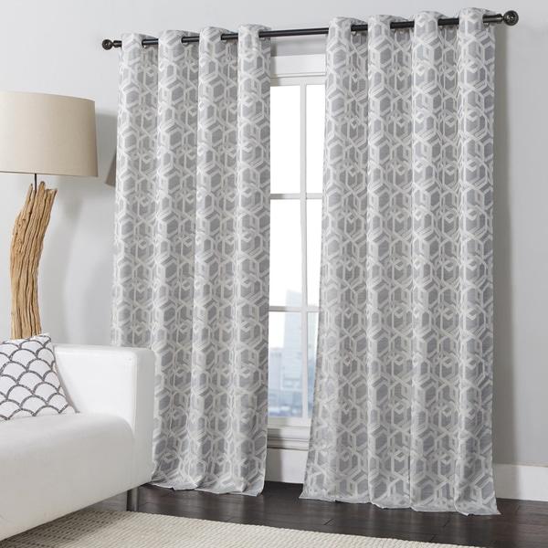 VCNY Columbus Grommet Curtain Panel - 17653661 - Overstock.com ...