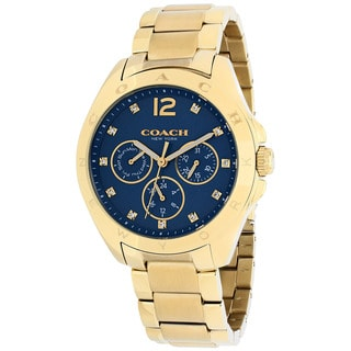 Coach Women's 14502072 Tristen Round Gold-Plated Stainless Steel Bracelet Watch