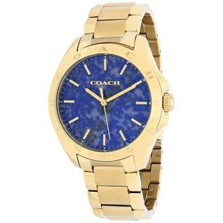 Coach Women's 14502051 Tristen Round Gold-Plated Stainless Steel Bracelet Watch