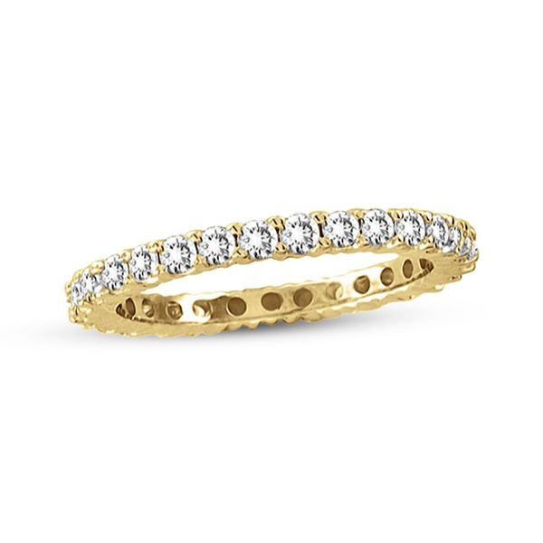 Suzy Levian 14K Yellow Gold 1/2 ct TDW Diamond Eternity Band Ring