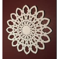 "12"" White Solaris One Wooden Wall Panel"