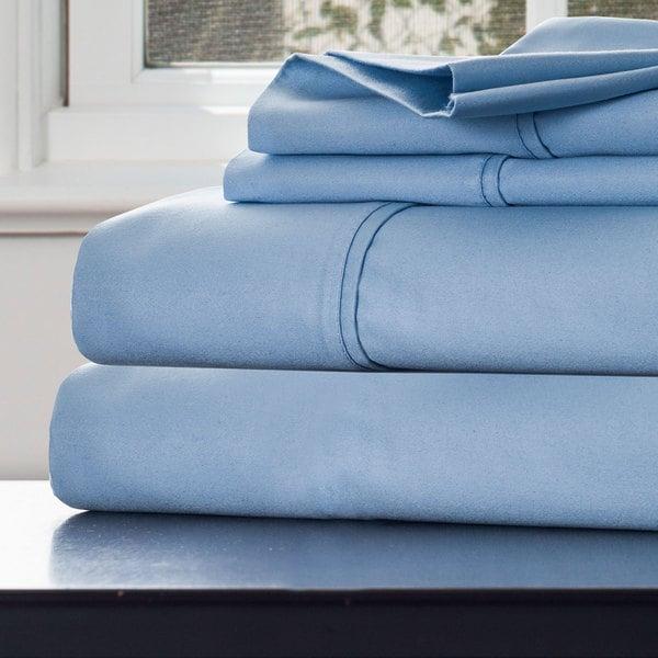 Windsor Home 1000 Thread Count Cotton Rich Sateen Sheet Set - King Blue