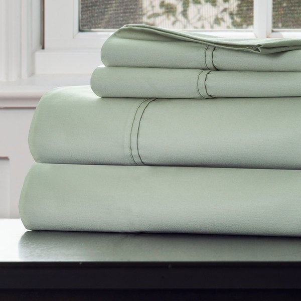 Windsor Home 1000 Thread Count Cotton Rich Sateen Sheet Set - King Green