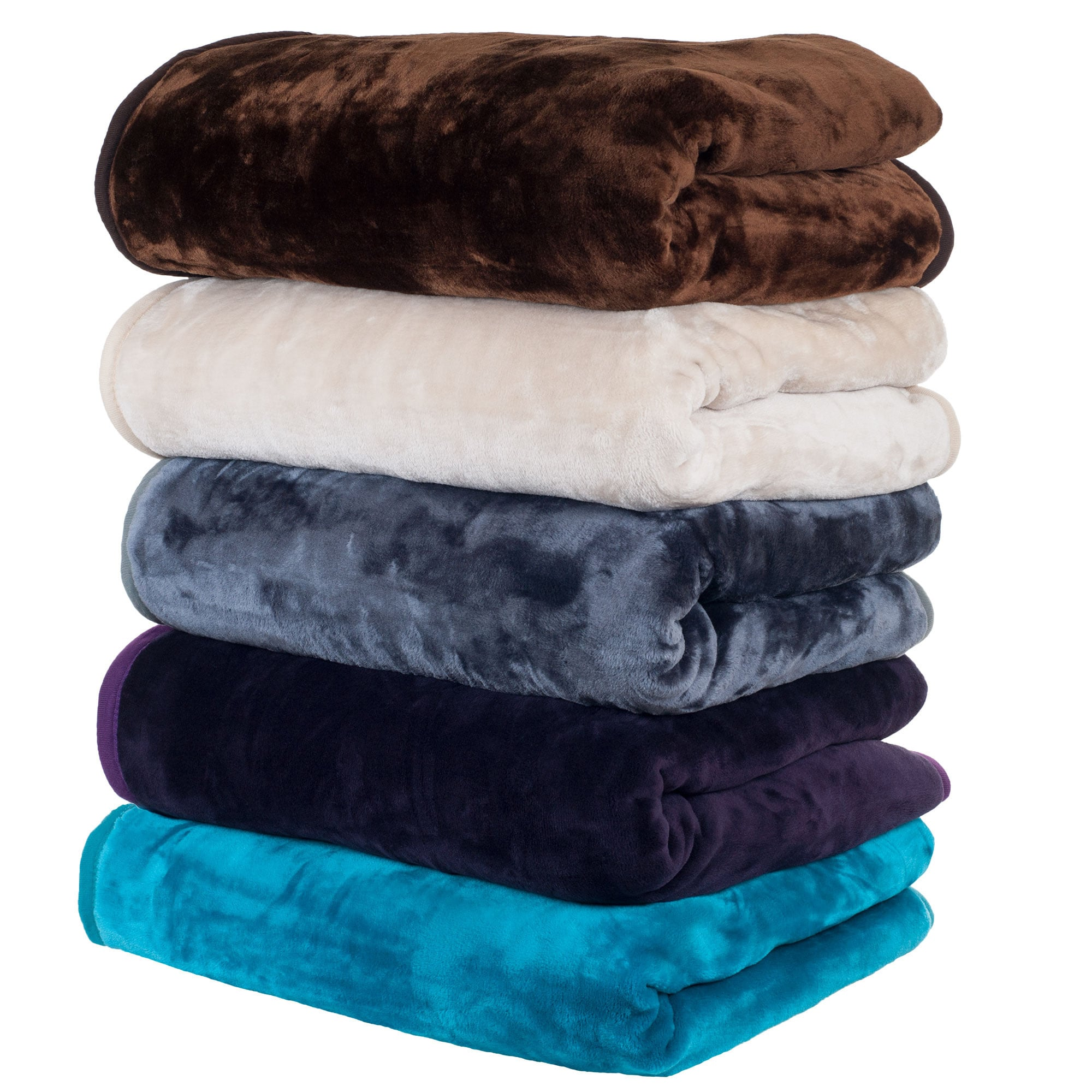 Windsor Home Solid Soft Heavy Thick Weighted Plush Mink B...