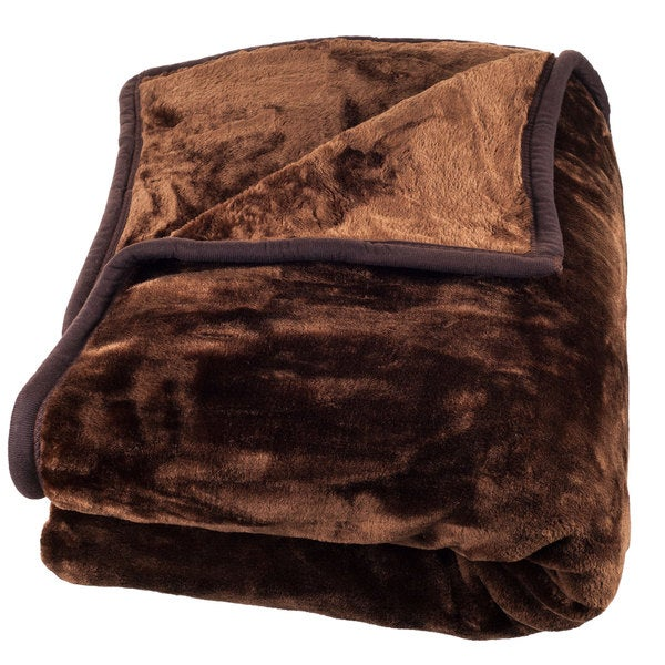 Windsor Home Solid Soft Heavy Thick Weighted Plush Mink ...