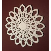 "30"" White Solaris One Wooden Wall Panel"