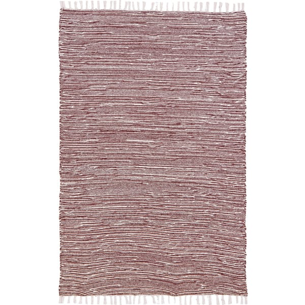 Brown Complex Chenille Flat Weave Rug