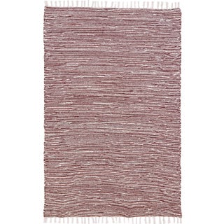 Brown Complex Chenille Flat Weave Rug (3' x 5')