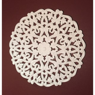 "24"" White Solaris Two Wooden Wall Panel"