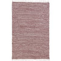 Brown Complex Chenille Flat Weave (9'x12') Rug - 9' x 12'