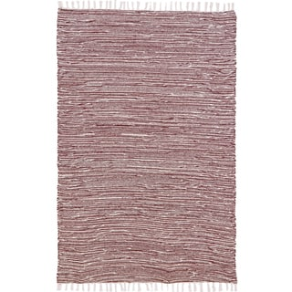 Brown Complex Chenille Flat Weave Rug (10' x 14')