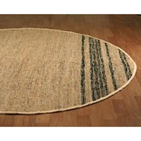 Tan Matador Leather Chindi (3'x3') Round Rug