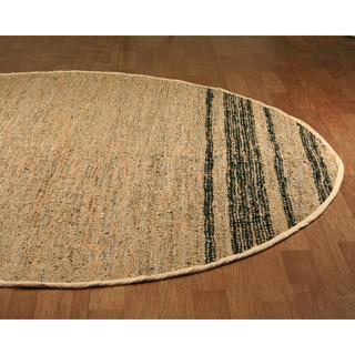 Tan Matador Leather Chindi (3'x3') Round Rug