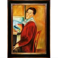 Amedeo Modigliani '' Hand Painted Framed Canvas Art