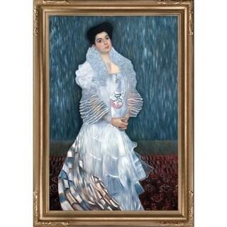 Gustav Klimt 'Portrait of Hermine Gallie' Hand Painted Framed Canvas Art