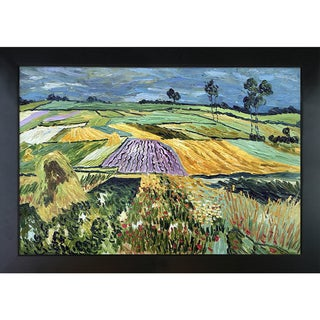 Vincent Van Gogh 'Wheatfields' Hand Painted Framed Canvas Art