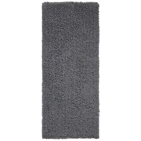 Grey Shagadelic Chenille Twist Shag Runner - 2'x5'