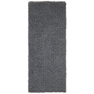Grey Shagadelic Chenille Twist (2'x5') Shag Runner