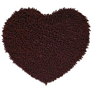 "Brown Shagadelic Chenille Twist (20x24"") Shag Heart"