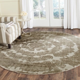 Safavieh Porcello Abstract Contemporary Grey/ Ivory Rug (6'7 Round)