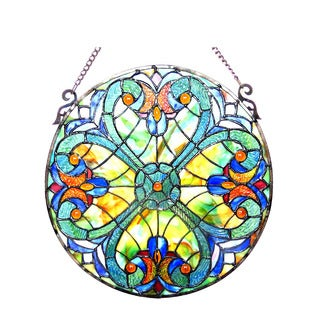 Chloe Lighting Tiffany Style Victorian Design Hanging Stained Glass Window Suncatcher