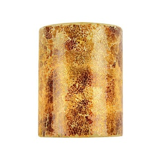 Chloe Mosaic Collection 1-light Sea Shell Glass/ Chrome Wall Sconce