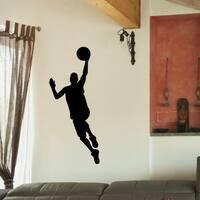 Basketball Player Wall Art Decal Sticker