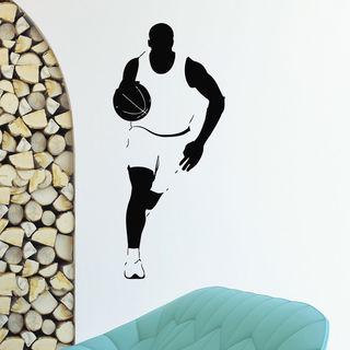 Running Man Vinyl Wall Art 16243366 Overstock Com