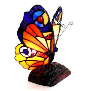Chloe Tiffany Style Butterfly Design 1-light Bronze Accent Lamp/ Night Light