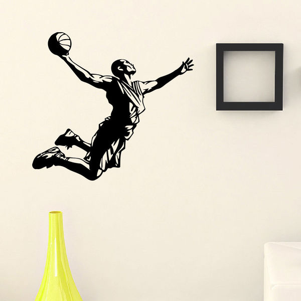 Dunking Busketball Player Vinyl Wall Art Decal Sticker