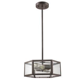 Chloe Loft/ Industrial 2-light Oil Rubbed Bronze Convertible Pendant