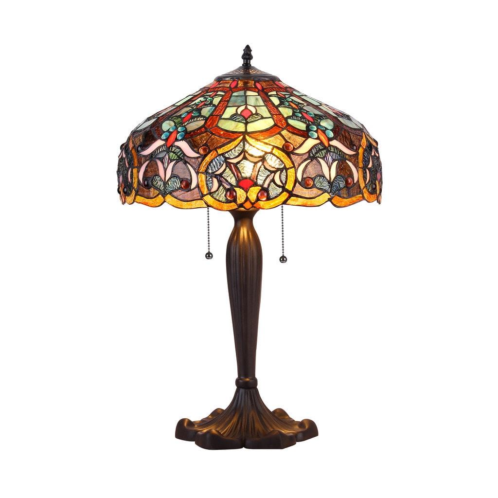 Chloe Lighting Tiffany Style Victorian Design 2-light Bro...