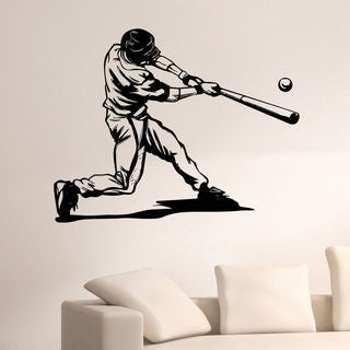 Baseball Player Wall Art Decal Sticker