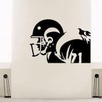 Football Player Wall Art Decal Sticker