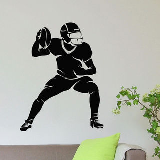 American Football Player Vinyl Wall Art Decal Sticker