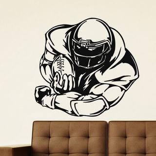 American Football Player Vinyl Wall Art Sticker