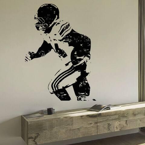 Football Player Vinyl Wall Art Decal Sticker