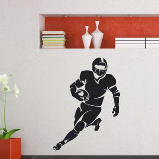 Running Football Player Vinyl Wall Art Decal Sticker