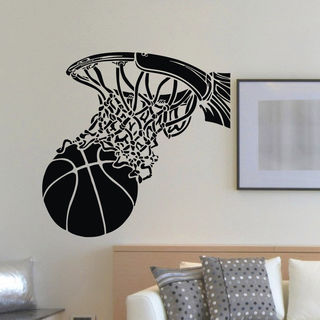 Basketball Dunk Vinyl Wall Art Decal Sticker