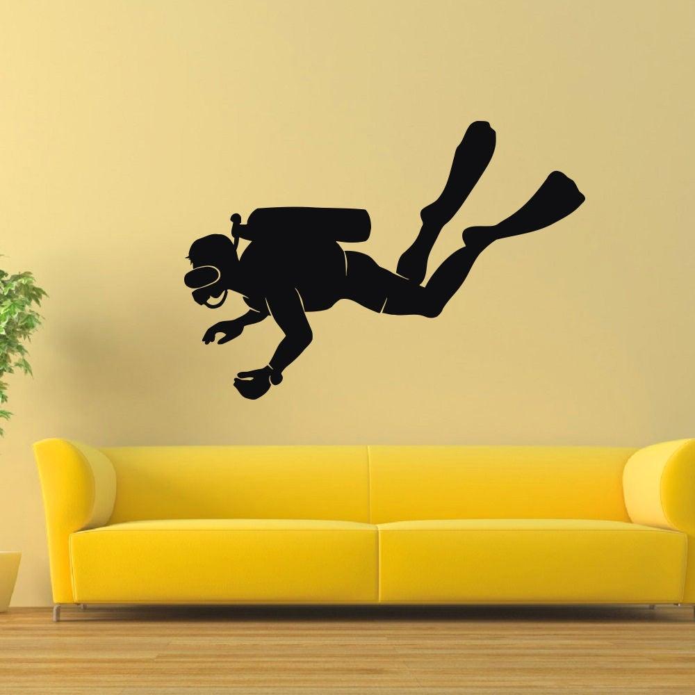 Scuba Diver Vinyl Wall Art Sticker (22 inches x 35 inches...