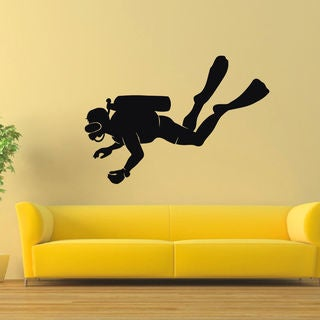 Scuba Diver Vinyl Wall Art Sticker